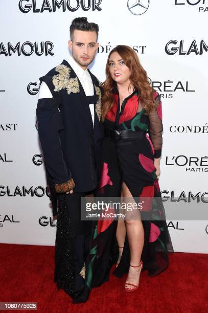 Nico Tortorella and Glamour EditorinChief Samantha Barry attend the 2018 Glamour Women Of The Year Awards Women Rise on November 12 2018 in New York...