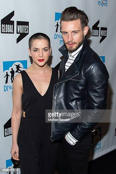 Nico Tortorella and guest attend the Bronxwrites' Poetry Slam Finals at Joe's Pub on February 2 2016 in New York City