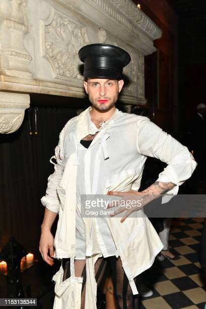 Nico Tortorella attends Rose Bar Pride Party hosted by Christian Siriano Bethany C Meyers and Nico Tortorella at Rose Bar at Gramercy Park Hotel on...