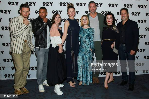 Nico Tortorella Charles Michael Davis Miriam Shor Sutton Foster Molly Bernard Peter Hermann Debi Mazar and Darren Star at 92nd Street Y on June 5...