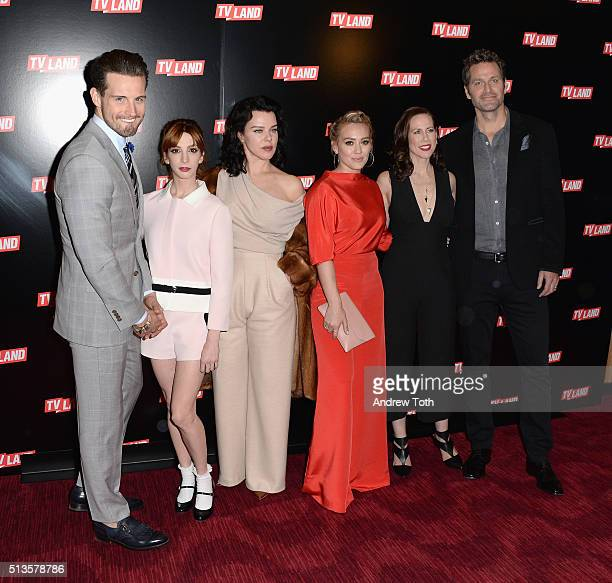 Nico Tortorella Molly Kate Bernard Debi Mazar Hilary Duff Miriam Shor and Peter Hermann attend the Viacom Kids and Family Group Upfront event at...