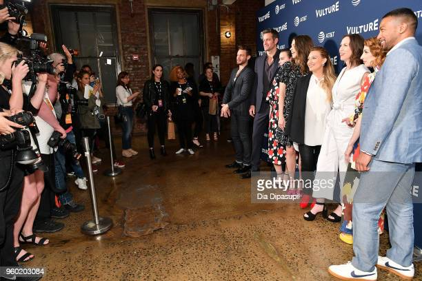 Nico Tortorella Peter Hermann Debi Mazar Sutton Foster Hilary Duff Miriam Shor Molly Bernard and Charles Michael Davis attend the Vulture Festival...