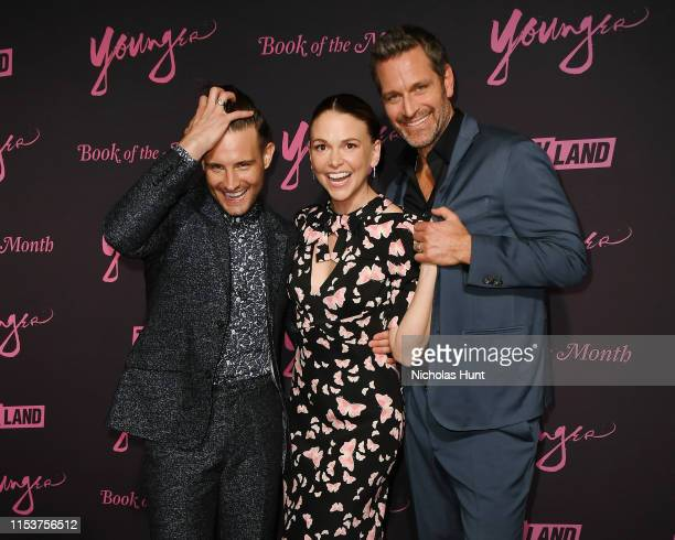 Nico Tortorella Sutton Foster and Peter Hermann attends the screening of Younger Season 6 New York Premiere at William Vale Hotel on June 04 2019 in...