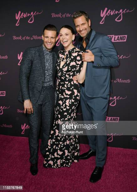 """Nico Tortorella, Sutton Foster and Peter Hermann attends the screening of """"Younger"""" Season 6 New York Premiere at William Vale Hotel on June 04, 2019..."""