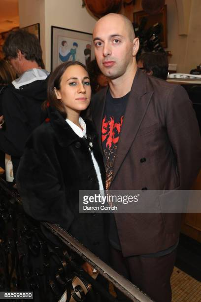 Nico Vascellari and Delfina Delettrez attend a dinner in Paris to celebrate Another Magazine A/W17 hosted by Vivienne Westwood Andreas Kronthaler...