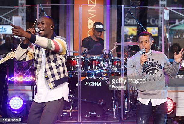 AMERICA Nico Vinz perform live on Good Morning America 7/22/14 airing on the Walt Disney Television via Getty Images Television Network