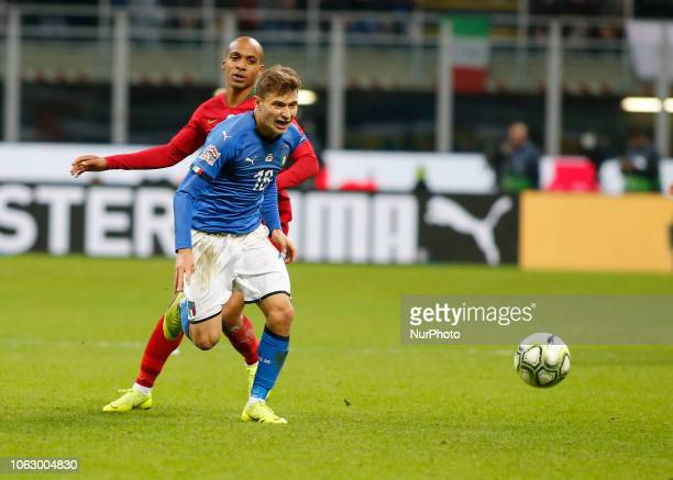 Nicol Barella during the Nation League match between Italia v Portogallo in Milan Giuseppe Meazza Stadio on November 17 2018