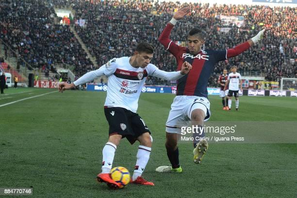 Nicol Barella of Cagliari Calcio in action during the Serie A match between Bologna FC and Cagliari Calcio at Stadio Renato Dall'Ara on December 3...