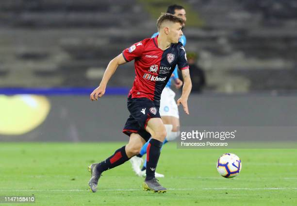 Nicolò Barella of Cagliari in action during the Serie A match between SSC Napoli and Cagliari at Stadio San Paolo on May 05 2019 in Naples Italy