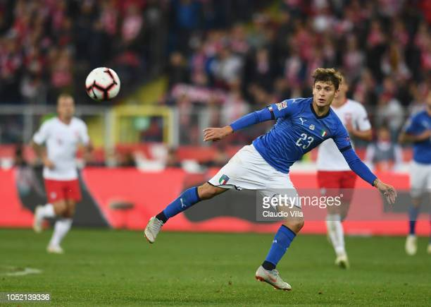 Nicolò Barella of Italy in action during the UEFA Nations League A group three match between Poland and Italy at Silesian Stadium on October 14 2018...