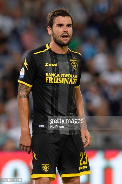 Nicolò Brighenti during the Italian Serie A football match between SS Lazio and Frosinone at the Olympic Stadium in Rome on september 02 2018