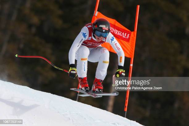 Nicol Delago of Italy in action during the Audi FIS Alpine Ski World Cup Women's Downhill on December 1 2018 in Lake Louise Canada