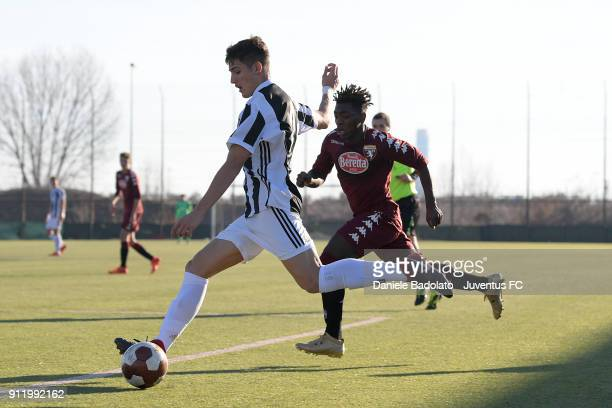 Nicol�� Francofonte during the U17 match between Torino FC and Juventus on January 28 2018 in Turin Italy