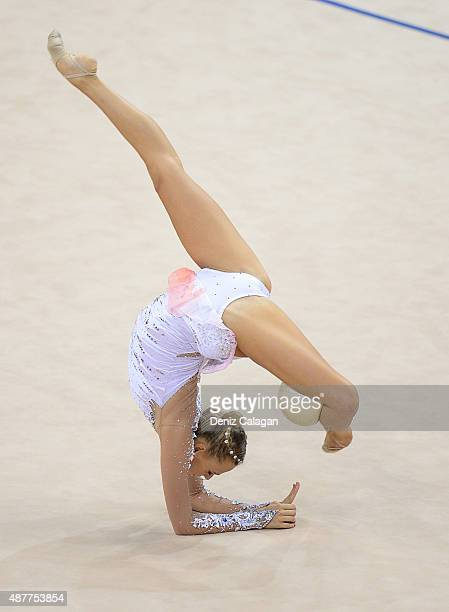 Nicol Ruprecht of Austria competes with ball during the 34th Rhythmic Gymnastics World Championships 2015 on September 11 2015 in Stuttgart Germany