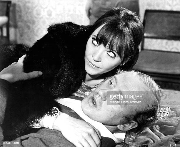 Nicol Williamson and Anna Karina got caught being intimate with one an other in a scene from the film 'Laughter in the Dark' 1969
