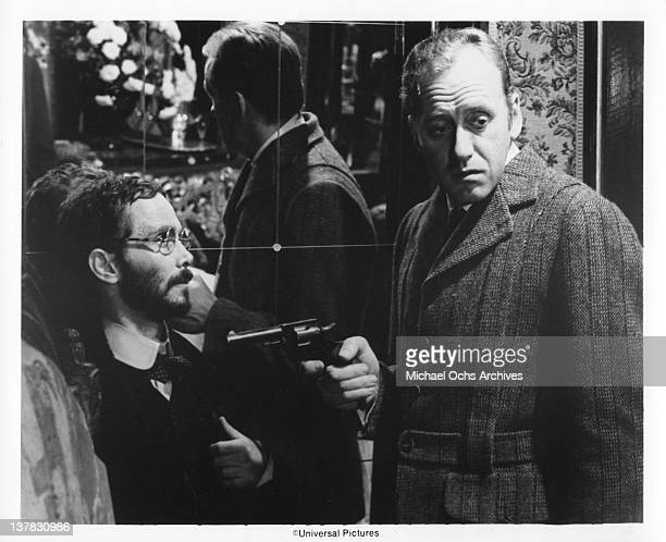 Nicol Williamson and Joel Grey in a scene from the Universal Pictures movie 'The Seven-Per-Cent Solution'.