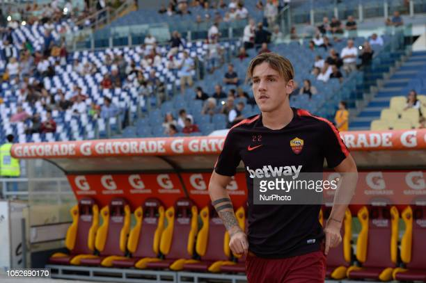 Nicolò Zaniolo during the Italian Serie A football match between AS Roma and Spal at the Olympic Stadium in Rome on october 20 2018