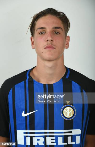 Nicolò Zaniolo of FC Internazionale poses on July 7 2017 in Reischach near Bruneck Italy