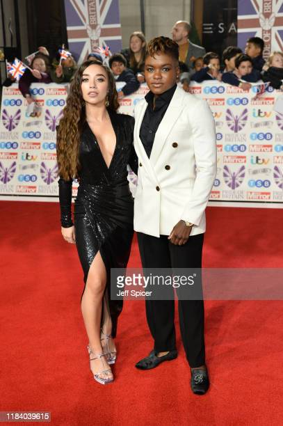 Nicola Adams and Ella Baig attend Pride Of Britain Awards 2019 at The Grosvenor House Hotel on October 28 2019 in London England