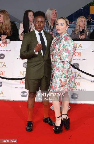 Nicola Adams and Ella Baig attend the National Television Awards 2021 at The O2 Arena on September 9, 2021 in London, England.