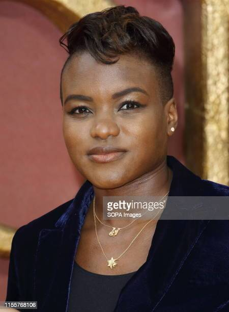 Nicola Adams attends the European Premiere of Disney's The Lion King at the Odeon Luxe cinema Leicester Square in London