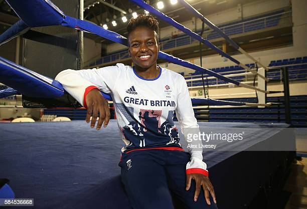 Nicola Adams of Great Britain poses for a portrait during a Team GB Boxing media access session at Minas Tennis Clube on July 29 2016 in Belo...