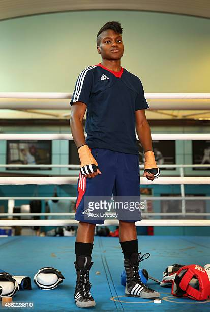 Nicola Adams of the GB Boxing squad poses for a portrait during the Boxing Elite National Finals Media Day at the English Institute of Sport on March...