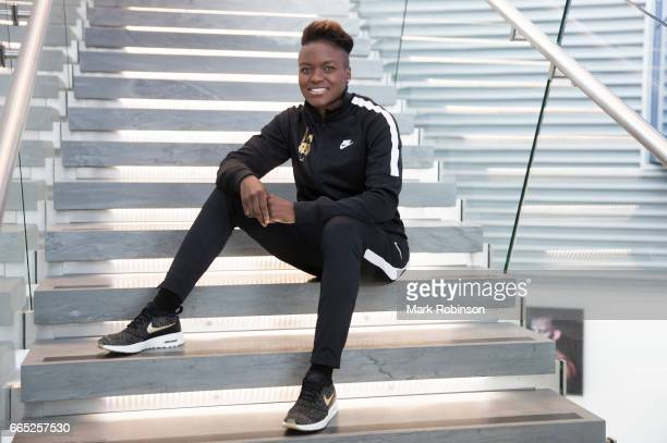 Nicola Adams poses for a portrait before her press conference at Etihad Campus on April 6 2017 in Manchester England