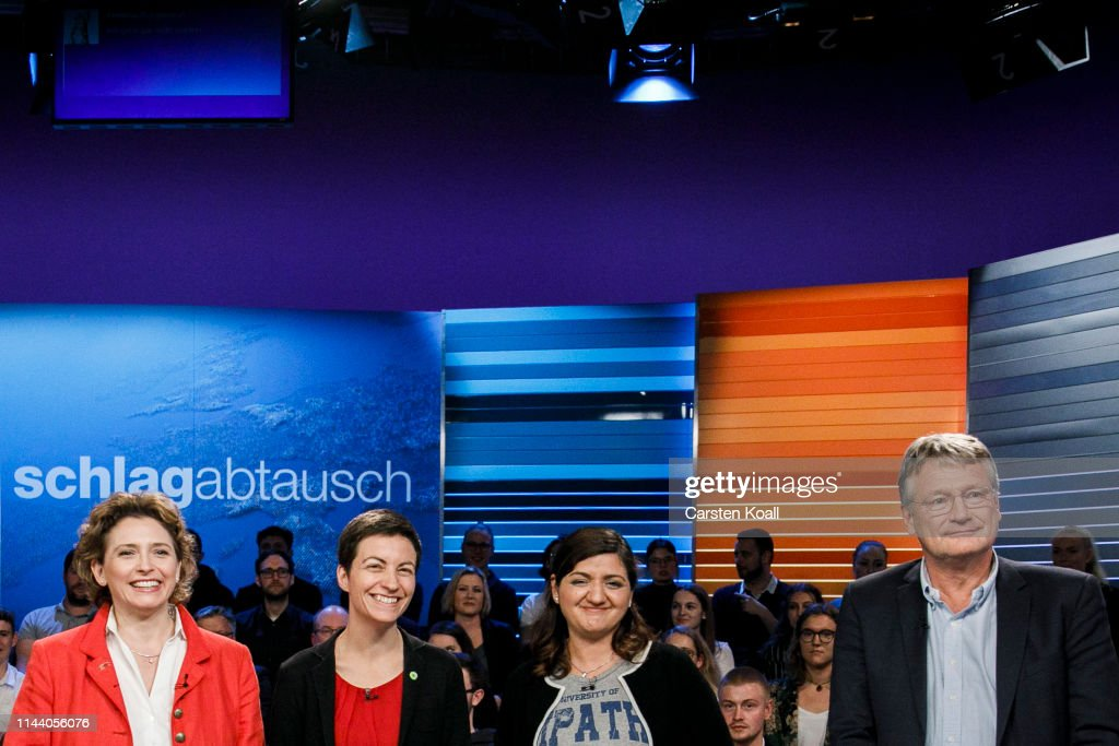 Candidates Hold Television Debate Prior To European Elections : News Photo