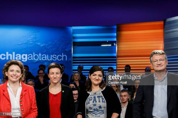 Nicola Beer lead candidate of the German Free Democrats Ska Keller lead cocandidate for the German Greens Party Ozlem Demirel lead cocandidate of the...