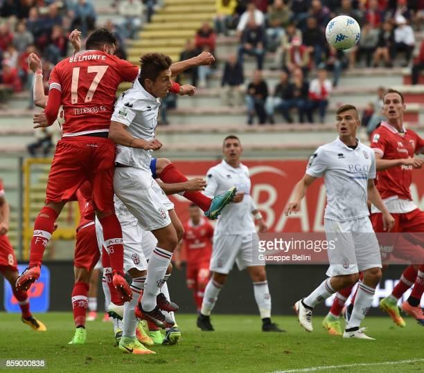 Nicola Belmonte of AC Perugia scores goal 11 during the Serie B match between AC Perugia and Pro Vercelli at Stadio Renato Curi on October 8 2017 in...