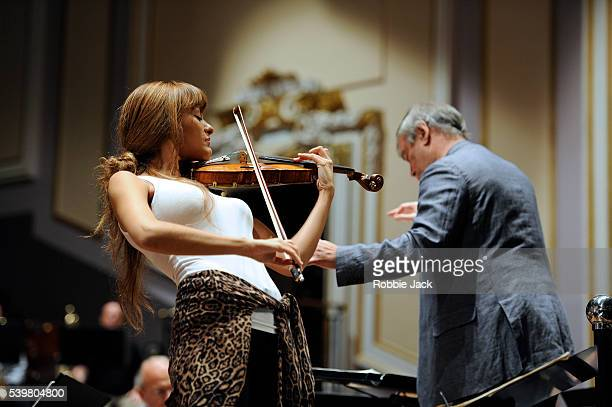 Nicola Benedetti and Valery Gergiev with the London Symphony Orchestra at the Usher Hall as part of the Edinburgh International Festival