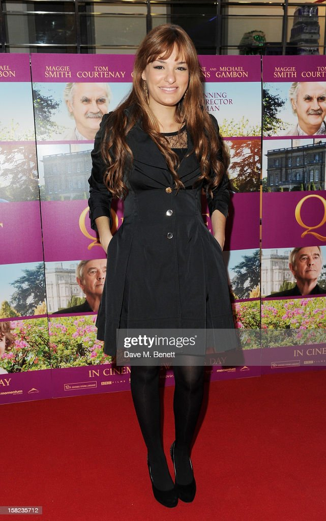 Nicola Benedetti attends a Gala Screening of 'Quartet' at Odeon West End on December 11, 2012 in London, England.