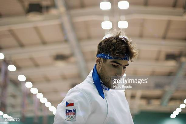 Nicola Benedetti of Italy looks on during the men's semi final round at the modern pentathlon European Championships at Medway Park on July 28 2011...