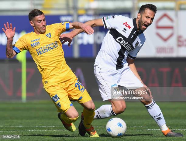 Nicola Citro of Frosinone competes for the ball whit Valerio Di Cesare of Parma Calcio during the serie B match between Parma Calcio and Frosinone...