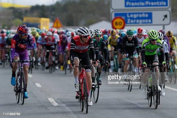 Nicola Conci of Italy and Team Trek - Segafredo / Diego Rubio of Spain and Team Burgos - BH / Garikoitz Bravo of Spain and Team Euskadi Basque...