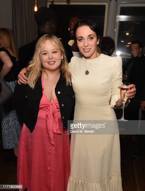 Nicola Coughlan and Amanda Abbington attend the press night after party for The Son at The Century Club on September 02 2019 in London England