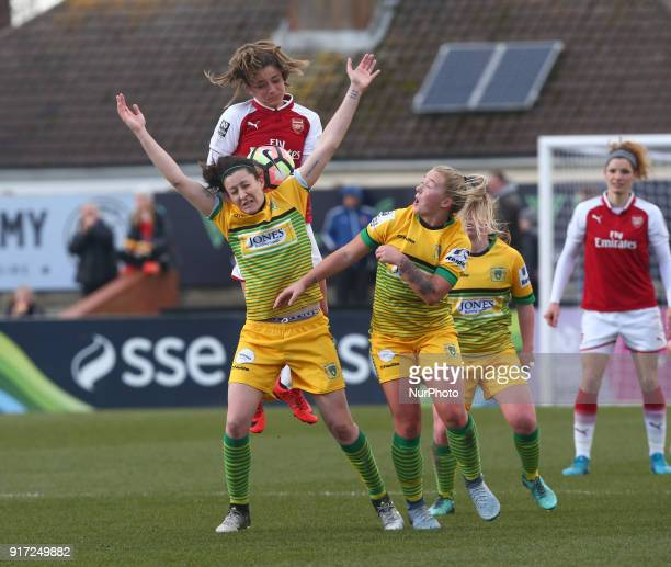 Nicola Cousins of Yeovil Town Ladies during Women's Super League 1match between Arsenal against Yeovil Town Ladies at Meadow Park Boreham wood FC on...