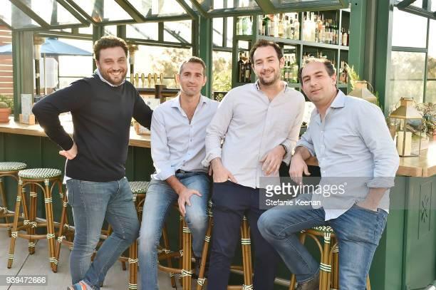 Nicola Farinetti, Dino Borri, Adam Saper and Alex Saper attend Terra Grand Opening at Eataly Los Angeles at Eataly LA on March 28, 2018 in Los...