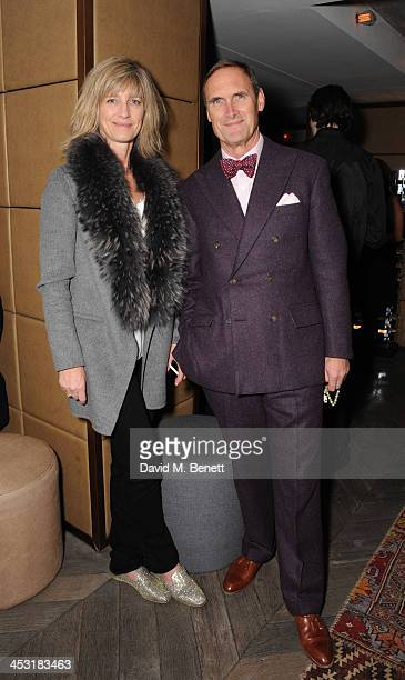 Nicola Formby and AA Gill attends a launch of Fatima Bhutto's debut novel The Shadow Of The Crescent Moon at the Belgraves Hotel on December 2 2013...