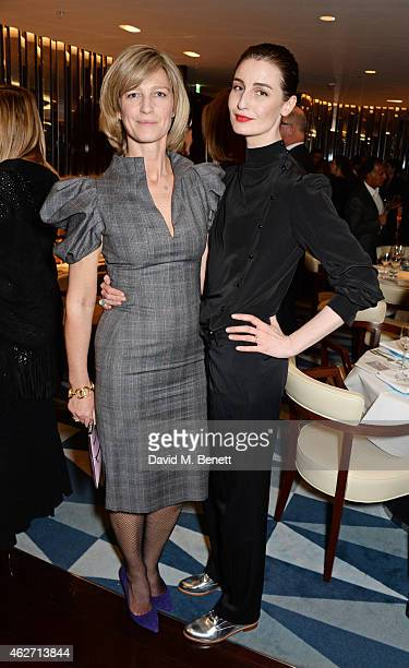 Nicola Formby and Erin O'Connor attend a charity dinner hosted by Nicola Formby and AA Gill with Dana Hoegh in support of Borne, a charity aimed at...