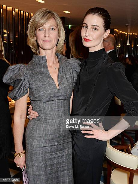 Nicola Formby and Erin O'Connor attend a charity dinner hosted by Nicola Formby and AA Gill with Dana Hoegh in support of Borne a charity aimed at...