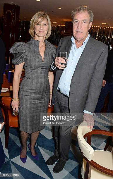 Nicola Formby and Jeremy Clarkson attend a charity dinner hosted by Nicola Formby and AA Gill with Dana Hoegh in support of Borne a charity aimed at...
