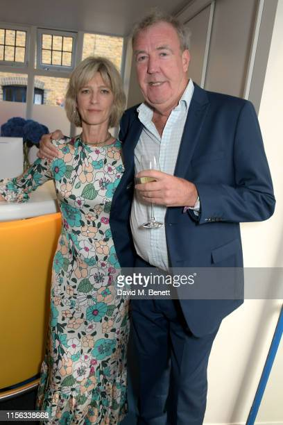 Nicola Formby and Jeremy Clarkson attend The Sunday Times AA Gill Award for emerging food critics at The River Cafe on June 16, 2019 in London,...