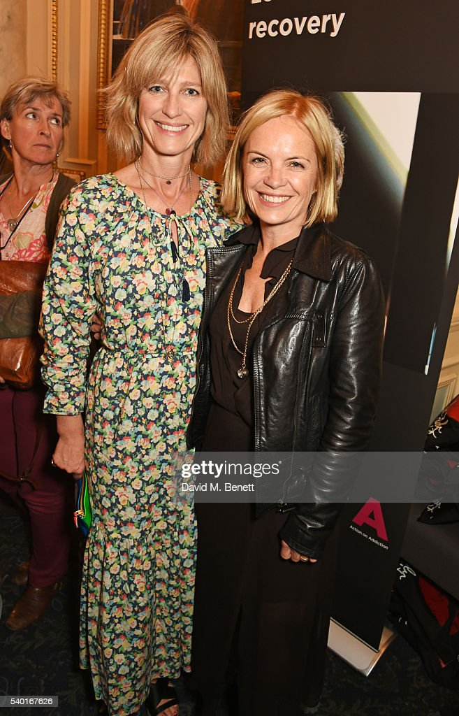 Nicola Formby (L) and Mariella Frostrup attend the 'People, Places & Things' Charity Gala in aid of Action On Addiction at Wyndhams Theatre on June 14, 2016 in London, England.