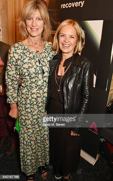 Nicola Formby and Mariella Frostrup attend the People Places Things Charity Gala in aid of Action On Addiction at Wyndhams Theatre on June 14 2016 in...