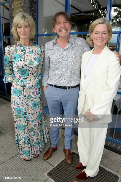 Nicola Formby, Charles Pullan and Ruth Kennedy attend The Sunday Times AA Gill Award for emerging food critics at The River Cafe on June 16, 2019 in...