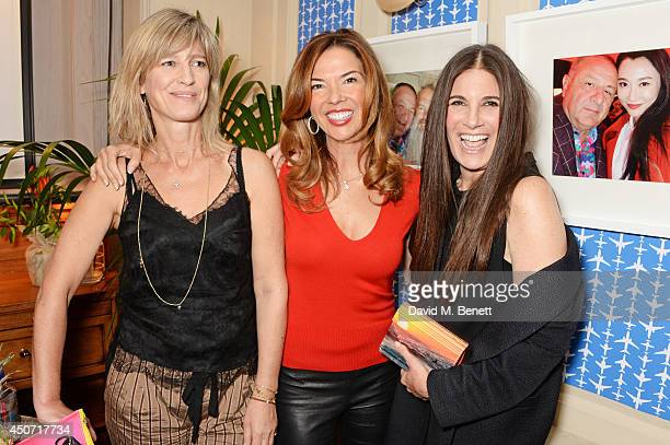 Nicola Formby Heather Kerzner and Elizabeth Saltzman attend the LimoLand SS15 collection preview hosted by Jean Pigozzi and Elizabeth Saltzman at...