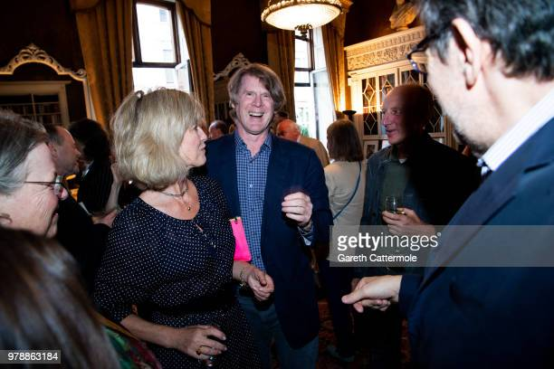 """Nicola Formby, Mark Getty and David Campbell attend the launch of Mark Getty's book """"Like Wildfire Blazing"""" published by Adelphi Publishers on June..."""