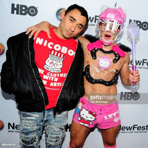 Nicola Formichetti and Candy Ken attend NewFest 2017 Opening Night Susanne Bartsch On Top at SVA Theatre on October 19 2017 in New York City